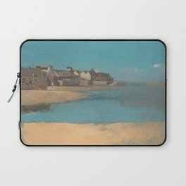 Odilon Redon - Village by the Sea in Brittany Laptop Sleeve