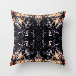Flame kaleidoscope Throw Pillow