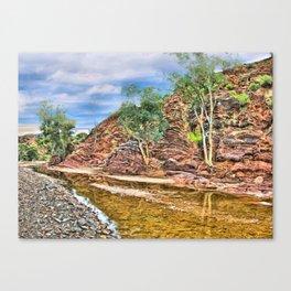Rocks at Brachina Gorge, Flinders Ranges, Sth Australia Canvas Print