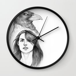 The Grey Crow Wall Clock