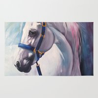 horse Area & Throw Rugs featuring Horse by Slaveika Aladjova