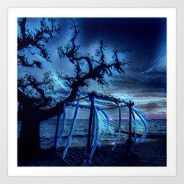 electric blue sunset Art Print