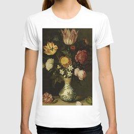 Ambrosius Bosschaert - Still life with flowers in a Wan-Li vase (1619) T-shirt