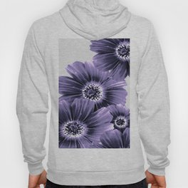 Daisies floral in soft lavender hues Hoody