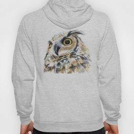 Owl Great Horned Bird of Prey Owls Animals Bird Wildlife Hoodie