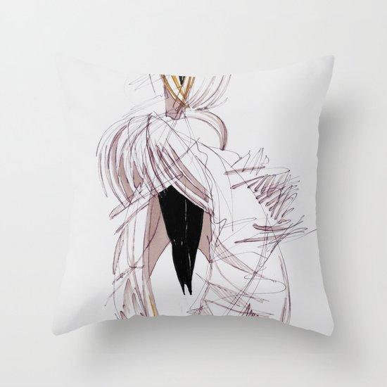 BIRD PRINCESS Throw Pillow