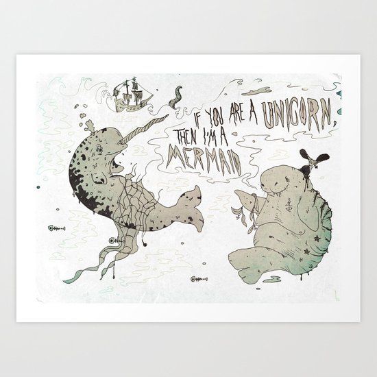 and sailors believed them... Art Print