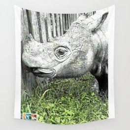 Sumatran Rhinoceros Wall Tapestry