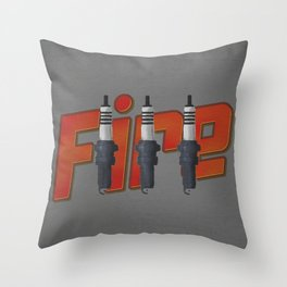 Fire, spark plug Throw Pillow
