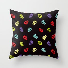 Happy skulls Throw Pillow