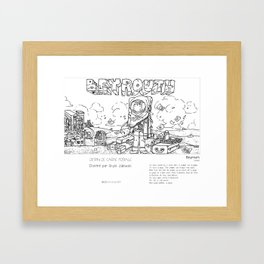 """""""Beyrouth"""" en Mots & Image (French touch) by Shyle Zalewski Framed Art Print"""