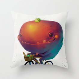 Bike Monster 2 Throw Pillow