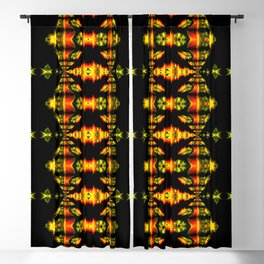 Native American Indian Tribal Mosaic Rustic Cabin Pattern Blackout Curtain