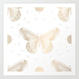 Luxury Buttefly 2 Art Print