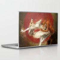 kitsune Laptop & iPad Skins featuring Kitsune Ballet by Badmiaou