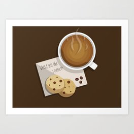 coffee vector Art Print