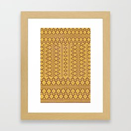 kilim geo in sunny yellow Framed Art Print