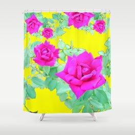 Magenta Rose  Shower Curtain