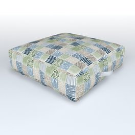 Jungle Set | hand illustrated quilt pattern Outdoor Floor Cushion