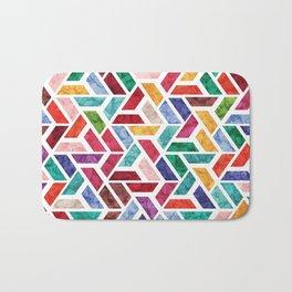Seamless Colorful Geometric Pattern VIII Bath Mat