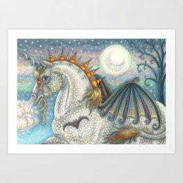 SPELLBOUND Gothic Halloween Unicorn Art Print