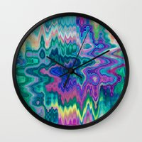 trippy Wall Clocks featuring Trippy by Dorothy Pinder