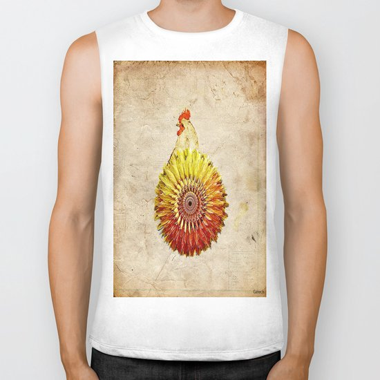 The hen colored Biker Tank