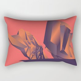 Futuristic Monuments Of Old Yugoslavia Rectangular Pillow