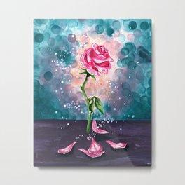 The Magical Rose Metal Print
