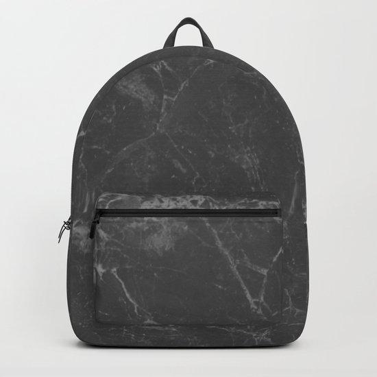 Marble Black Gray White Backpack