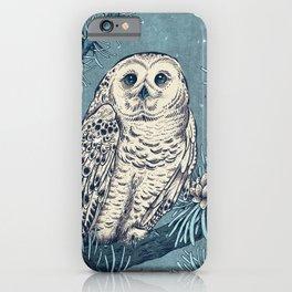 Winter Snowy Owl iPhone Case