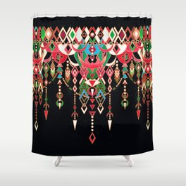 Modern Deco in Red and Black Shower Curtain