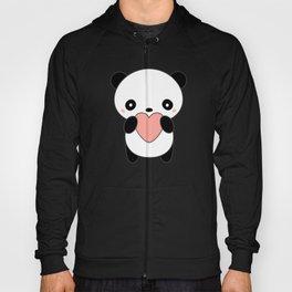Kawaii Cute Panda Heart Hoody
