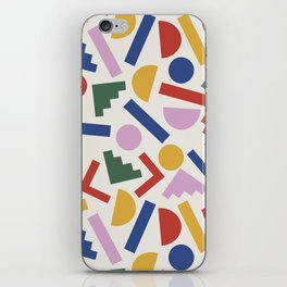 Colorful Geometric Shapes iPhone Skin