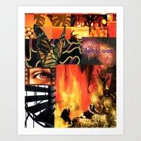 Aflame Art Print