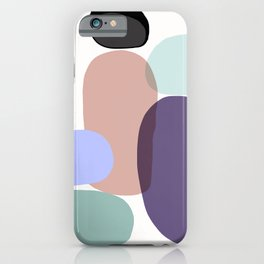 Family Portrait / Contemporary Abstract Shapes iPhone Case
