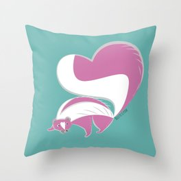 Skunk Le Pink (c) 2017 Throw Pillow
