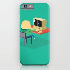 Nerd playing Pong iPhone 6s Slim Case