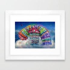 The Rainbowhouse ! Framed Art Print