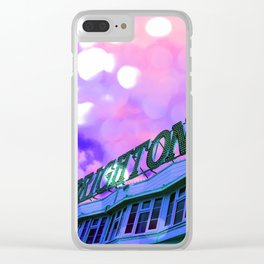 Holiday Vibes Clear iPhone Case