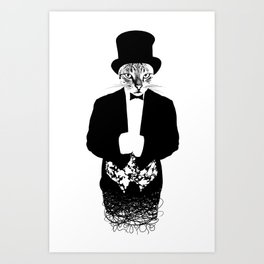 Cat in the Hat Art Print