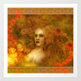 """Ofelita de Oro"" (From ""Death, Life, Hope"") Art Print"