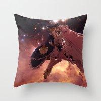 madoka magica Throw Pillows featuring Madoka Magica Walpurgisnacht Kiss by Erin Ptah