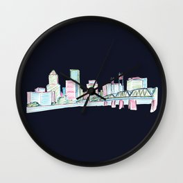 Portland - Midnight Version  Wall Clock