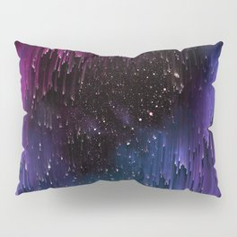 Ultra Violet Glitch Galaxy Pillow Sham