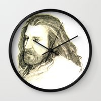 thorin Wall Clocks featuring Thorin Oakenshield by Zalazny