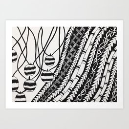 Funky Patterns Art Print