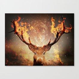 Internal flame Canvas Print