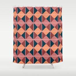 Harlequin - Mid Century Modern Triangles Shower Curtain