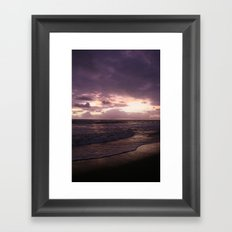 purple beach sunset, puerto vallarta Framed Art Print